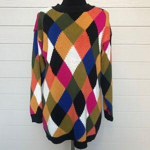 Vintage Gantos Argyle Diamond Print Sweater